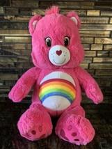 "Build A Bear Care Bears Cheer Bear 17"" Pink Plush Stuffed Animal w/ Rain... - $24.95"