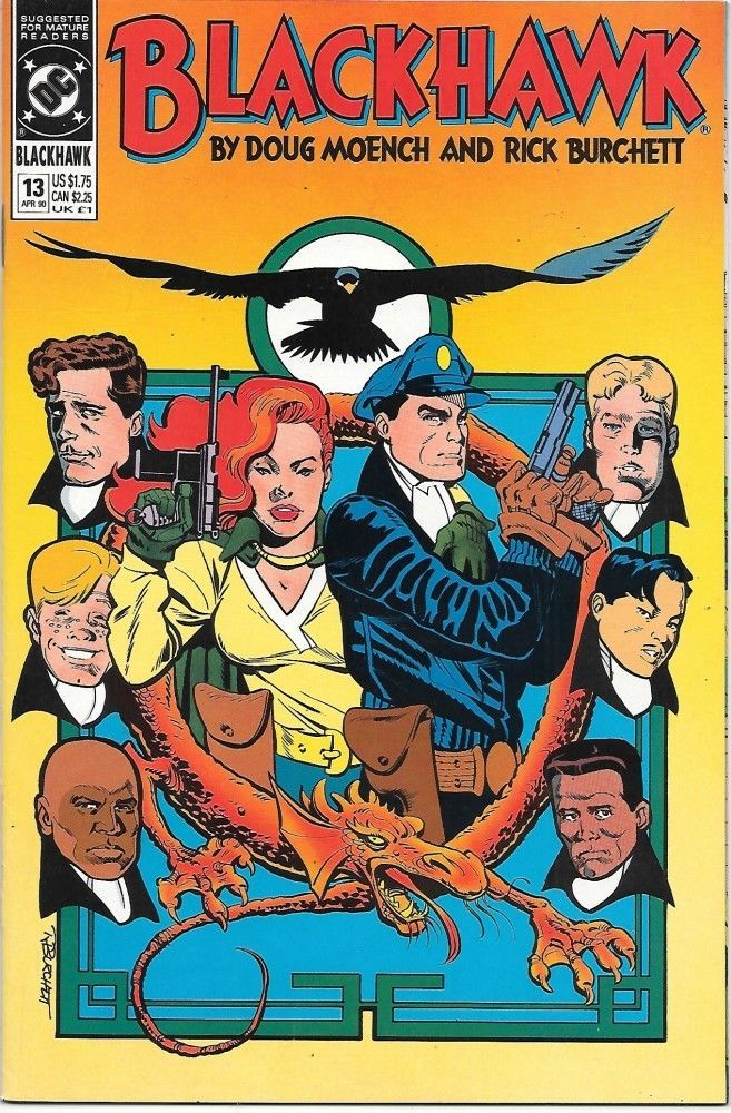 Blackhawk Comic Book #13 DC Comics 1990 NEAR MINT NEW UNREAD