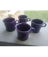 4 Fiesta Purple Coffee Tea MUGS Tom and Jerry - $49.99