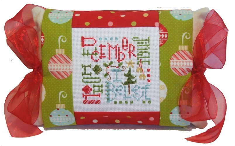 Primary image for December Expressions (PMD-380) Tie One On Kit cross stitch kit Pine Mtn Designs