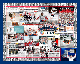 Washington Capitals 2018 Stanley Cup Mosaic Newspaper Collage Print Art - $24.99+