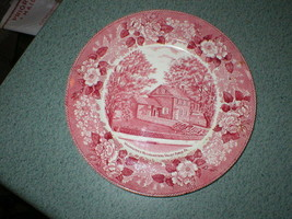 """VTG Washington's Headquarters Valley Forge PA 9 3/4"""" Red Plate Adams Pot... - $16.59"""