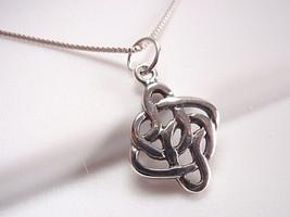 Celtic Weave Pendant 925 Sterling Silver Corona Sun Jewelry - $8.90
