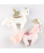 NWT 2 Target Wondershop Enchanted Eve Cloth & Sequin Unicorn Christmas O... - $6.00