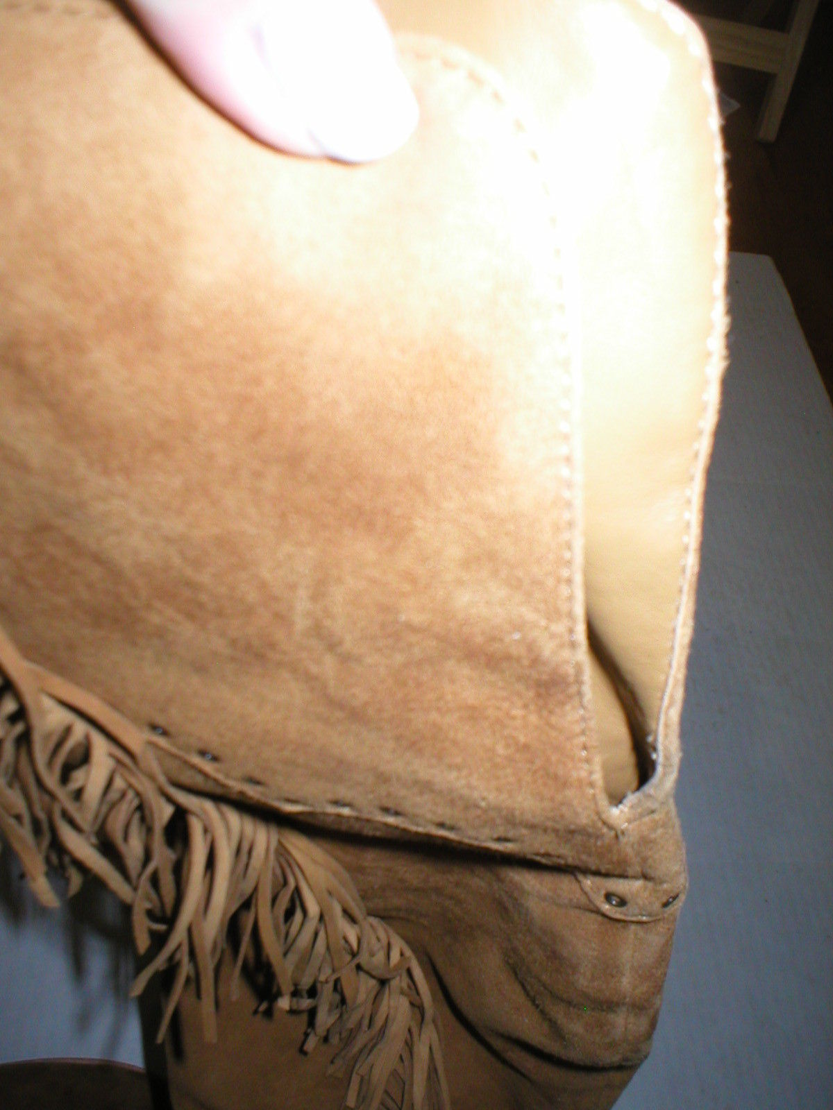 New $578 Womens 9.5 Frye Suede Leather Boots OTK Tall Knee Fringe Ray Camel Tan image 11