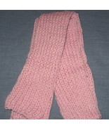 Pink Baby Alpaca Knit Scarf - 42 inches - Handc... - $45.00