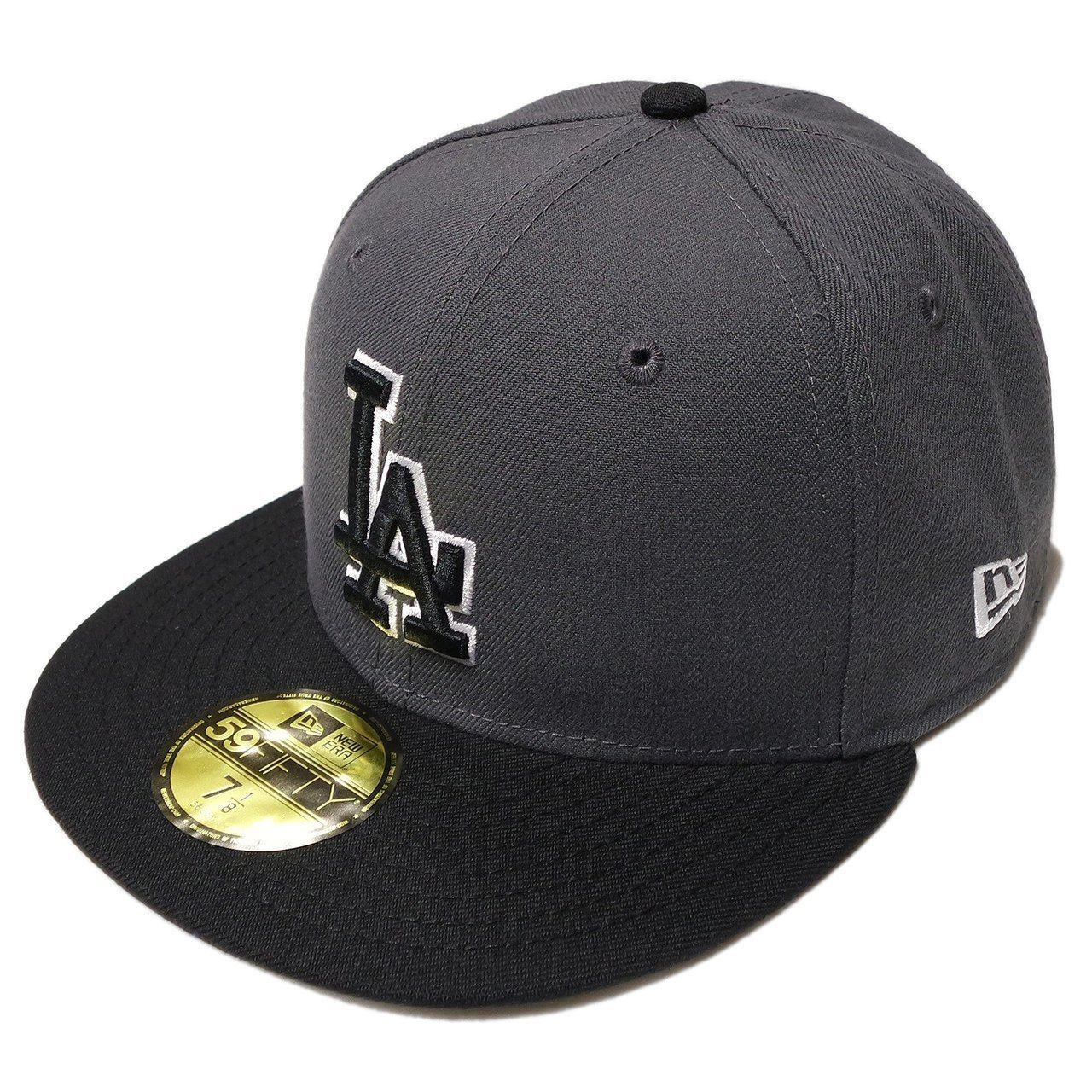 cheaper ed619 a21a3 S l1600. S l1600. Previous. New Era MLB Los Angeles Dodgers 2 Tone Dark  Gray Fitted Cap 59fifty