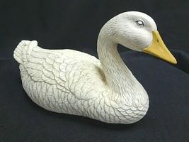 Ceramic White Swan Figurine Statuette Wildlife Home Patio Decor - $24.88
