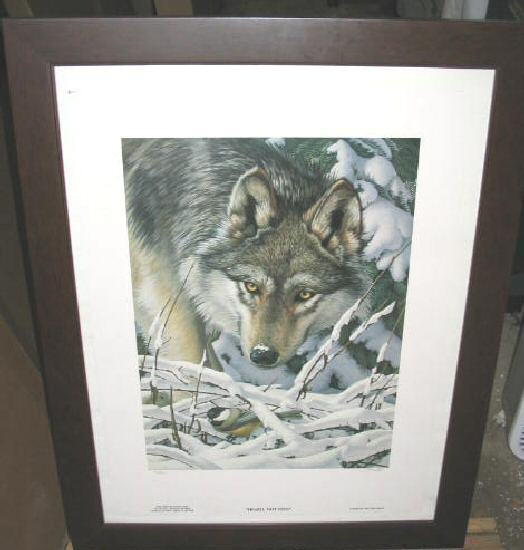 Tom Hirata Heard Not Seen Wolf Limited Framed Poster Print