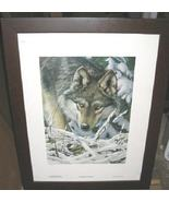Tom Hirata Heard Not Seen Wolf Limited Framed Poster Print - $250.00