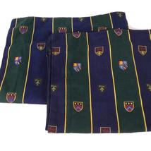 RALPH LAUREN Chappel Stripe Twin Bed-skirt w/2 Pillow Shams Blue Green C... - $64.02