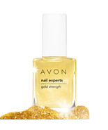 AVON Nail Experts Gold Strength New Boxed Rare - $5.99