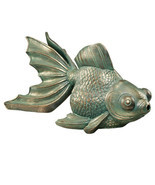 Butterfly Asian Koi Piped Spitter Statue (gf) - $495.00