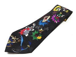1992 Looney Tunes Character Graphic Neck Tie 100% Polyester Made in Korea - $24.70