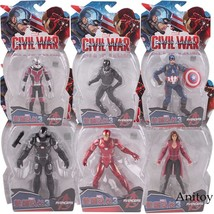 Anime Cartoon Marvel Spider-man Pvc Figure Collectible Toy 7-9cm Kt4149 Action & Toy Figures