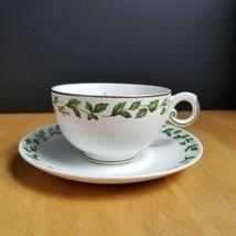 Superior Hall Cameo Rose Coffee Cup & Saucer Set Mary Dunbar White Rose ... - $4.94