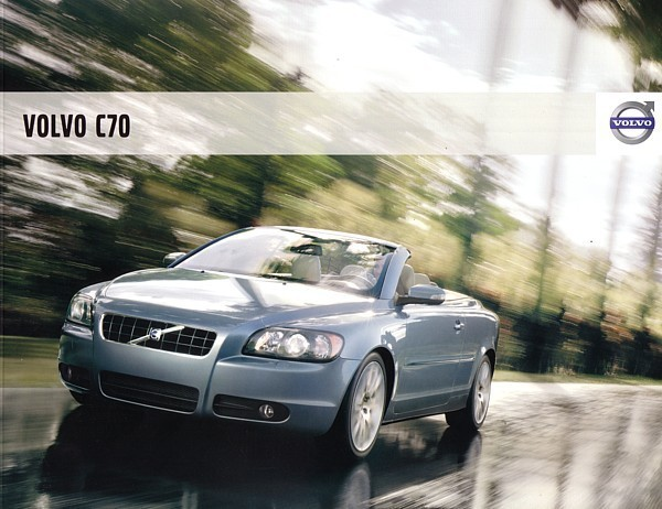 Primary image for 2008 Volvo C70 sales brochure catalog 08 US 2nd Edition T5