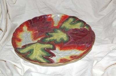 PartyLite Autumn Leaf Tray Party Lite