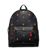 Coach West Backpack Allover ATARI Print Black Antique Nickel Hardware - $250.00