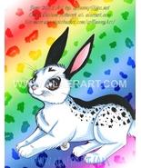 Lovely Nature Series of Pet Rabbit WeaselBaby Original + Print Fan Art 2... - $15.99