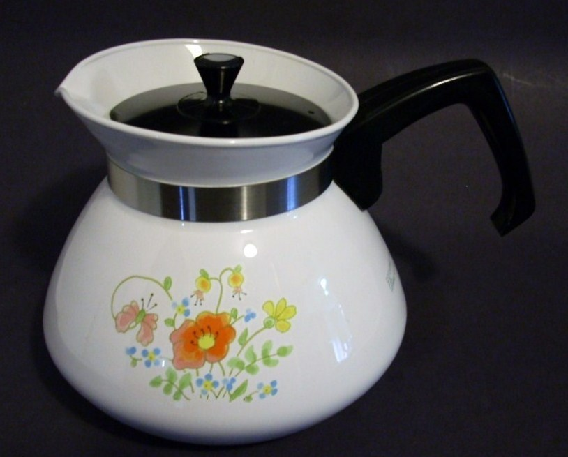Primary image for Corning Ware Wildflower 6-cup Teapot Pyroceram P-104