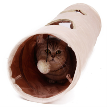 Cat Tunnel with Ball Interactive Pet Play Long Foldable Collapsible 2 Holes - $41.70 CAD