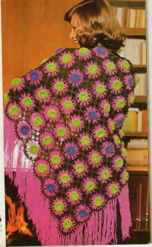 Vintage Woman's Day Granny Squares for Crochet