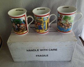 Campbells Soup Kids Collector Mugs The Danbury Mint Set of 3 Nov Sept Au... - $23.15