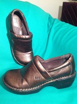 Women's B.O.C By Born Brown Leather Clogs Heels Shoes Size 8.5M/40 Mrsp $72 - $29.69