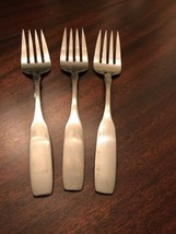 3 Oneida Community Stainless Flatware Paul Revere Pattern Cold Meat Serving Fork - $22.77