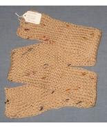 Tan Rainbow Knit Scarf - 38 inches - Handcrafted - $20.00