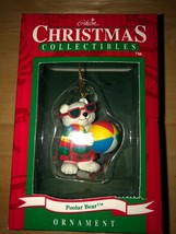 Vintage Gibson Christmas Ornament Poolar Bear Beach Ball 1997 NEW in box - $9.87