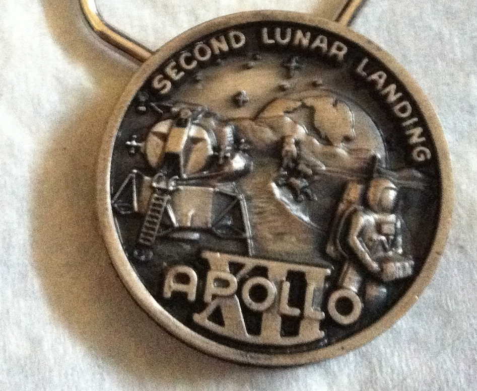Primary image for NASA APOLLO 12 XII Collectible Coin Medallion Medal Keyring SECOND MOON LANDING!