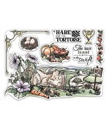 """Ciao Bella Stamping Art Clear Stamps 6""""X8""""-The Hare & The Tortoise, Aeso... - $18.81"""