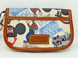 Disney Parks Dooney and Bourke 40th Anniversary Wristlet Snap Flap Goofy... - $69.29
