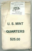 2000-P State Quarter-New Hampshire - $25 MINT SEWN BAG - $41.95