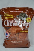 Rawhide Express Beefhide Chew Chips Dog Treats Brand NEW Sealed 1 lb bag... - $2.96