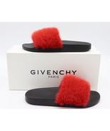 NIB GIVENCHY Paris Red Mink Fur Slide Sandals Flats New 9 39 $595 - $325.00