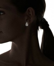 New David Aubrey Gold Tone Crystal Cubic Zirconia Pear Shape Teardrop Earrings image 2