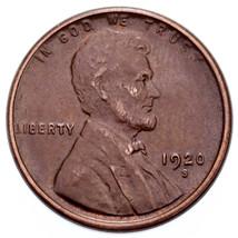 1920-S 1C Lincoln Cents Au État, Marron Couleur, Traces De Original Rouge - $44.25