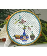 Vintage Cloisonne Enamel Trinket Pin Dish Vase ... - $29.95