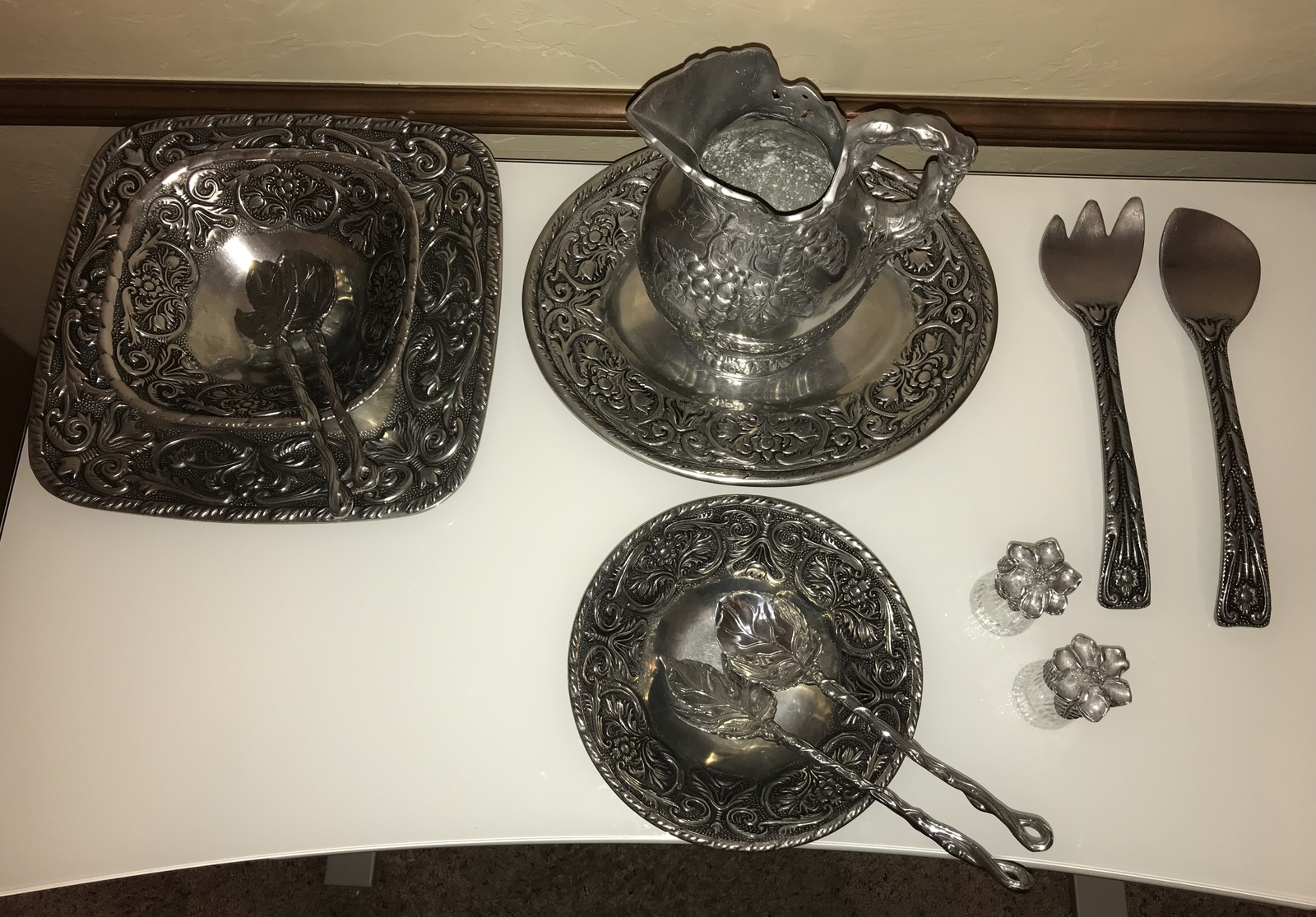 Wilton Armetale William and Mary Pewter set - Amazing! - $425.00