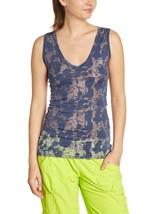 Zumba Fitness Damen Splatter Sleeveless Burnout Tank Top Indigo Z1T00372 - $25.84+