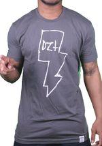 Dissizit Compton Los Angeles Slick Mens Charcoal White Lightning Tee Shirt NWT image 5
