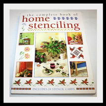 THE COMPLETE BOOK OF HOME STENCILING, INCLUDES 24 CARDS - $18.29