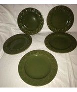 "5 Harry and David Fall Maple Leaf Salad Plates Autumn Color Fall 8.25"" G... - $25.00"