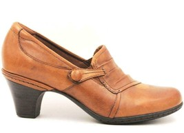 Cobb Hill By New Balance Women Slip On Loafer Heels Size 7.5M Brown Leather - $41.32