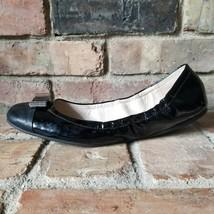 COACH Demi Patent Black Leather Light Weight Comfort Ballet Flats Size 9.5 A2438 - $37.02