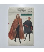 Vintage Vogue 7110 Misses Hooded Cape or Wrap Sizes 6-14 Sewing Pattern FF - $8.75