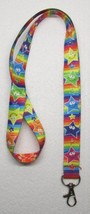 Rainbow with Multi Color STARS LANYARD KEY CHAIN Ring Keychain ID Holder... - $9.99
